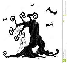 free animated halloween clipart halloween tree stock vector image 58571268