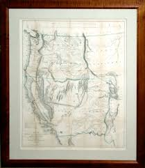 Map Of California And Oregon by Arader Galleries Fremont U0027s Map Of California From 1848
