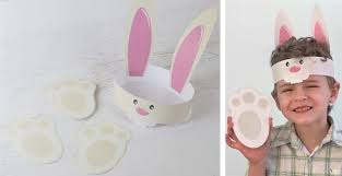 easter bunny hat diy easter bunny hat paw print craft kit