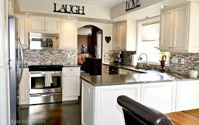 kitchen cream cabinets oak kitchen remodel painted cream cabinets and quartz