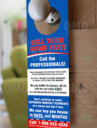 sell your home fast u2013 door hanger u2013 real estate lead generator