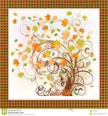 autumn tree card stock images image 33284514