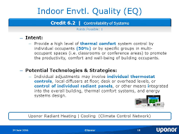 Quality Comfort Systems Uponor Leed Review Dave Zweber Channel Marketing Mgr Ppt