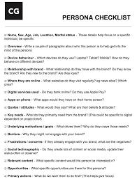 home design checklist creating personas to drive human centred design u2013 common good