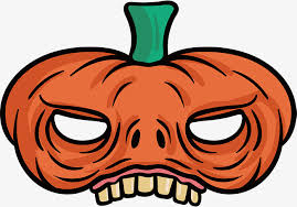 pumpkin mask scary pumpkin mask vector png mask pumpkin png and vector for
