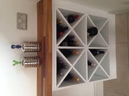 white wood wine cabinet built in wine racks wood cosmecol