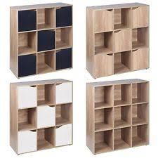 Wooden Bedside Bookcase Shelving Display Oak Cube Storage Ebay