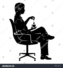 Office Chair Vector Side View Chair Silhouette Png Man In Chair Silhouette