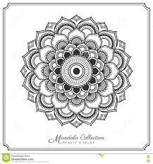 mandala tattoo design template stock vector image 80930281