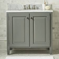 britta grey bathroom vanities and sinks crate and barrel