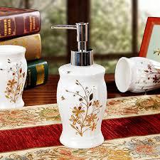luxury porcelain flower pattern bathroom accessories set household