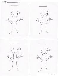 Four Worksheet Four Seasons Tree Drawing Template Worksheet By Diana Huang On