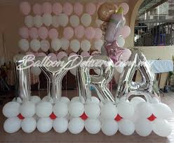 helium balloon delivery in selangor helium balloon wall with mini column balloondelivery my