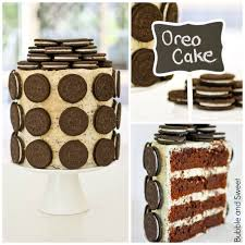 bubble and sweet cookies and cream elegant stacked oreo cake