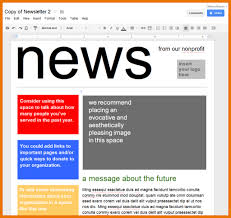 creating a newsletter template cfsonline me