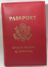 genuine red leather passport cover holder case travel wallet us