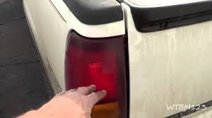 2001 silverado tail lights chevy truck tail lights stuck on youtube