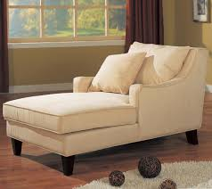 furniture cream microfiber chaise lounge chair with cushion and