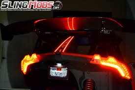 Automotive Led Light Strips Polaris Slingshot Led Tail Fin Running Brake Light Strips By Tricled