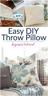 easy diy throw pillow part 6 living room makeover the