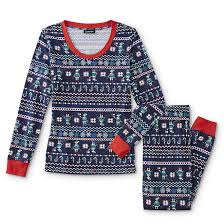 Joe Boxer Womens Christmas Pajama Shirt  Jogger Pants  Elf Fair Isle