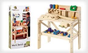Toy Wooden Tool Bench Kids U0027 Workbench Set Groupon Goods