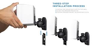 regent home theater system ht 2004 amazon com mount it speaker wall mount full motion brackets for