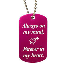 heart dog necklace images Always on my mind forever in my heart dog tag necklace love jpg