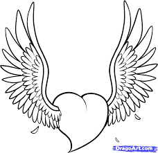 draw a heart with wings tattoo tattoomagz