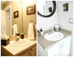 design on a dime bathroom budget powder room makeover powder room countertop and concrete
