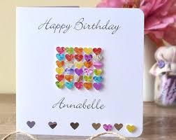 15th birthday card age 15 card handmade personalised