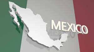Mexico Country Map by Mexico Country Nation Map North America Flag 3 D Animation Motion