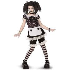 gothic rag doll child tween costume buycostumes com