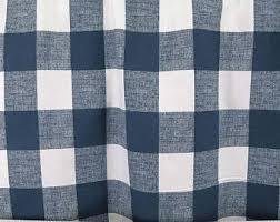 Navy Blue Plaid Curtains Plaid Curtains Etsy