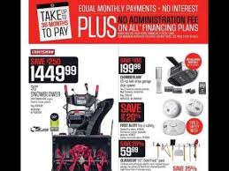 black friday snowblower deals sears canada 2015 black friday ad youtube