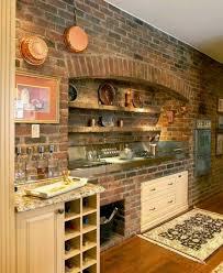 25 modern kitchens in wooden finish digsdigs kitchen with brick wall donatz info