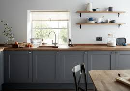 howdens kitchen cabinet doors only a grey shaker style kitchen cabinet door with a wood