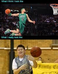 Funny Basketball Memes - playing basketball meme guy