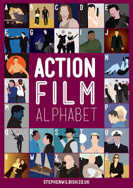 film quiz poster the action film alphabet poster will quiz your action film knowledge