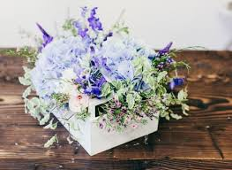 blue centerpieces picture of rustic blue centerpiece