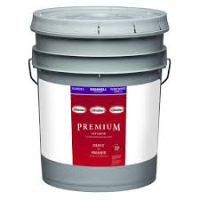 glidden premium 5 gal pure white eggshell latex interior paint