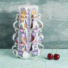 cool christmas presents ribbon candy carved candle white candle