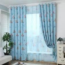 rideau pour fenetre chambre 1pc voilage rideau pour fenêtre chambre 100x250cm motif hibou bleu