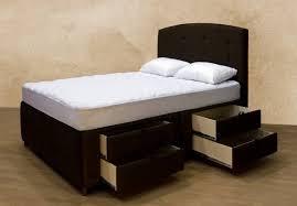 king storage bed platform frame queen bedroom furniture wood