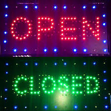 neon mart led lights open closed 2 in 1 bright led shop sign close neon bar cafe pub