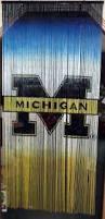 University Of Michigan Curtains Nib Michigan Wolverines Bamboo Beaded Room Divider Curtain 3x6 Ft