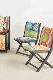 Upholstered Folding Dining Chairs Elephant Terai Folding Chair Anthropologie Upholstery And Wax