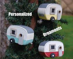 trailer ornaments bird house ornament personalized