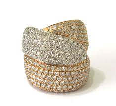 gold pave rings images Alan friedman company beverly hills jewelry jpg