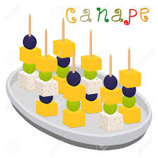 berry canapes vector illustration logo for ripe colorful canapes with berry